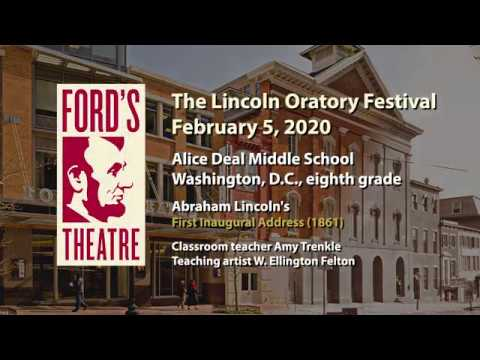 Ford's Theatre | The Lincoln Oratory Festival 2020, Alice Deal Middle School