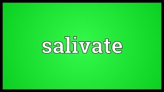 Salivate Meaning