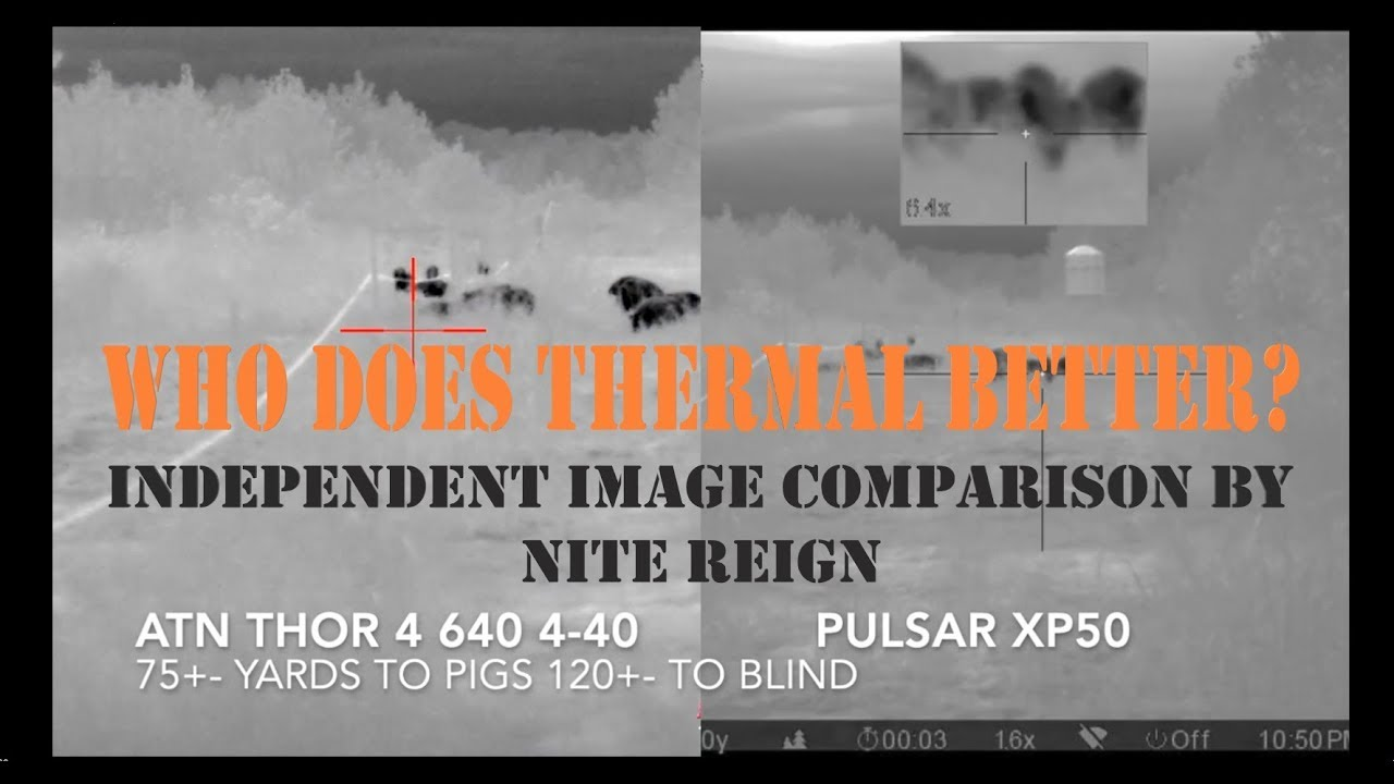 ATN Comparison of the Thor 4 640 vs  Pulsar - A Picture Is Worth A Thousand  Words