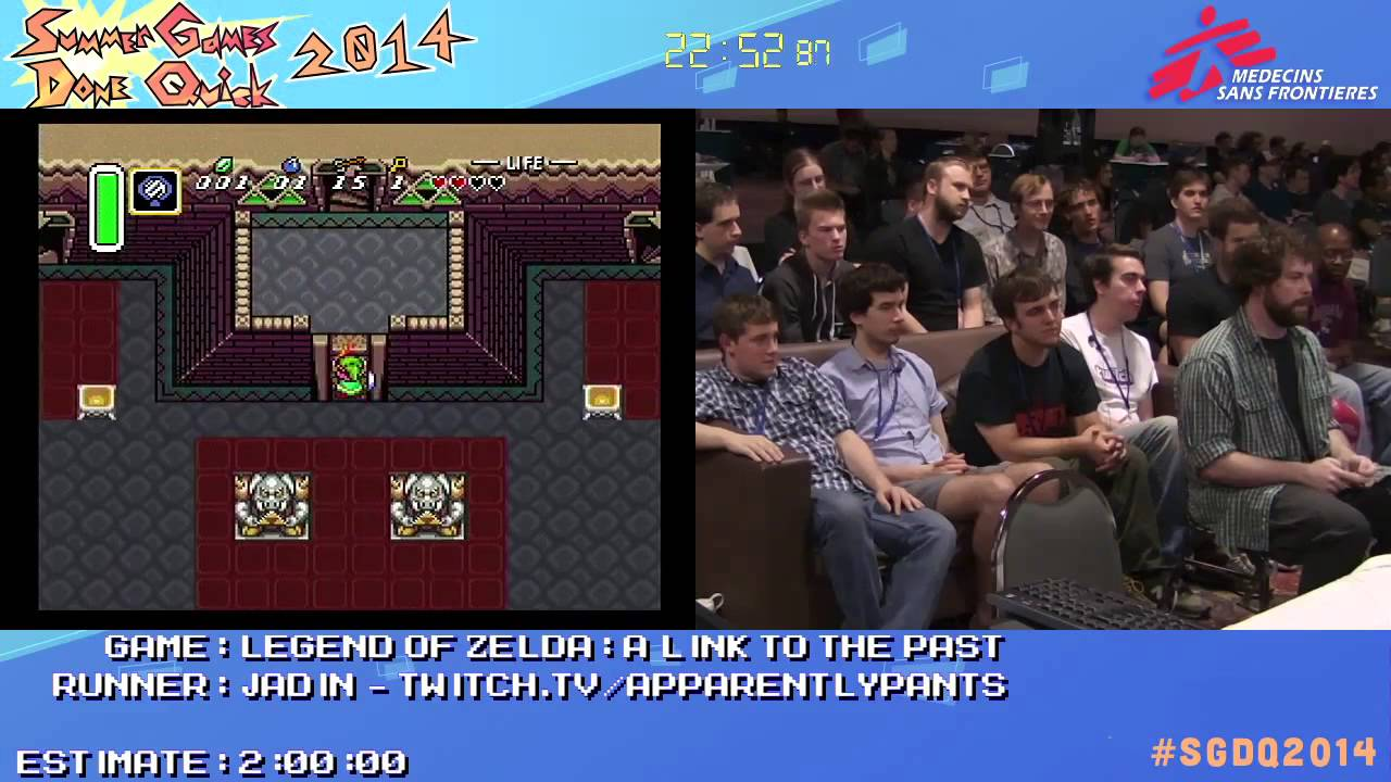 Legend Of Zelda: A Link To The Past No Exploration Glitch by Jadin in 37:47 - SGDQ2014 - Part 161
