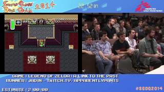 Summer Games Done Quick 2014 - Part 161 - Legend Of Zelda: A Link To The Past No Exploration Glitch