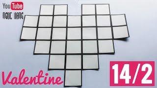 DIY ♡ QUÀ VALENTINE 14/2 (dán ảnh cỡ 4x4 cm) - NGOC VANG