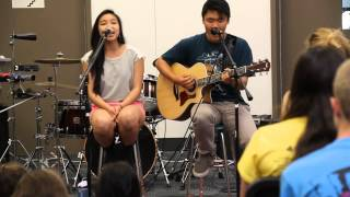 Colbie Caillat - Breakeven/Fast Car Live Cover - (Kaoru Yamazaki and Melissa Lu)