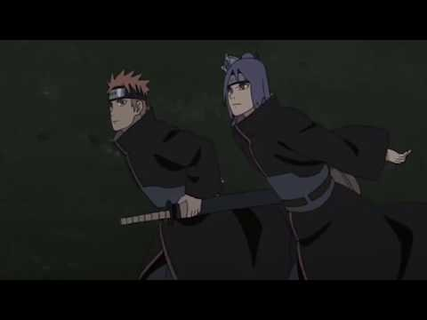 Team Jiraiya and Team Asuma vs Marine Creature