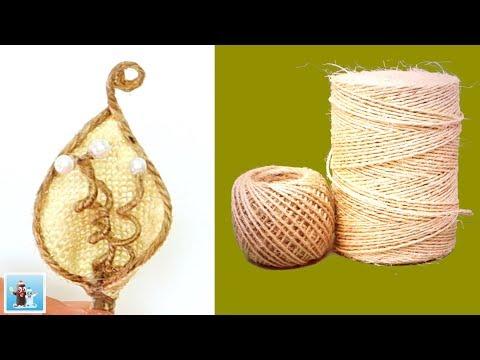 Handicraft Ideas from Jute Twine | DIY Art and Craft
