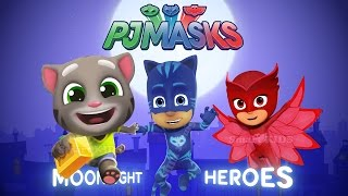 Talking Tom Gold Run vs PJ Masks Moonlight Heroes