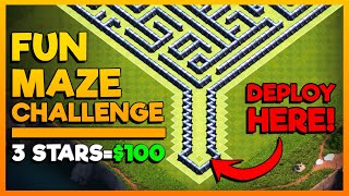 First to 3-Star THIS BASE Gets $100 - Clash of Clans Challenge