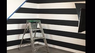 COMO PINTAR RAYAS EN TU PARED / HOW TO PAINT LINES ON YOUR WALL