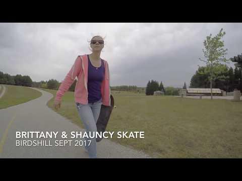 Brittany & Shauncy Skateboarding Birdshill Park
