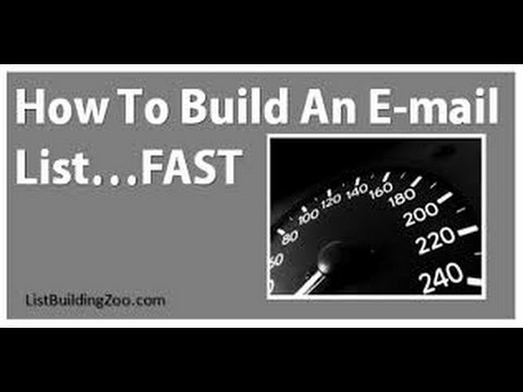 How To Build An Email List Fast And Easy