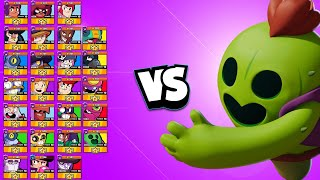 Spike 1v1 vs EVERY Brawler | The Tank Stopper Rules!