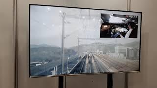 부산국제철도박람회 철도영상 모습