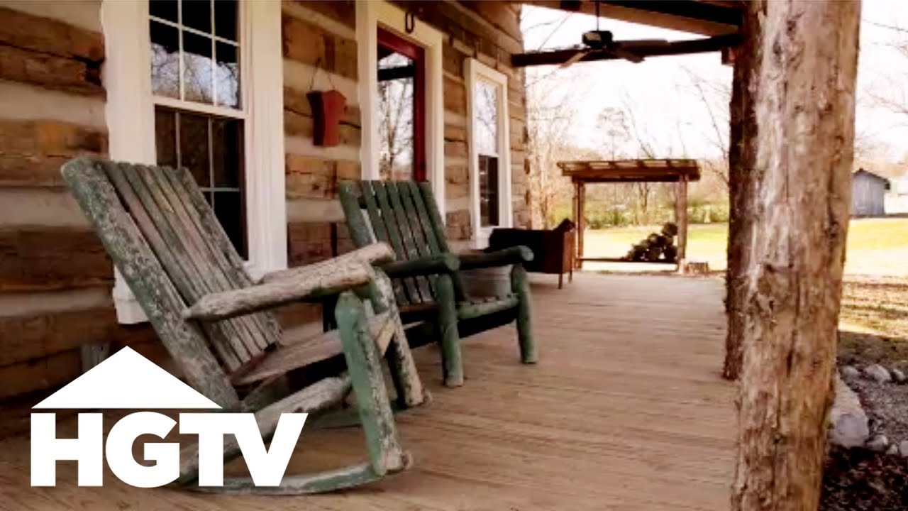 Before And After A Log Cabin Renovation In Tennessee Hgtv