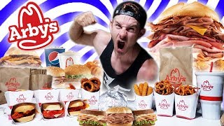 THE SUPERCHARGED ARBY'S MENU CHALLENGE! (10,000+ CALORIES)