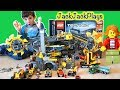 Pretend Play with Huge Lego City Mining and Police Collection - Prison Break Skit!