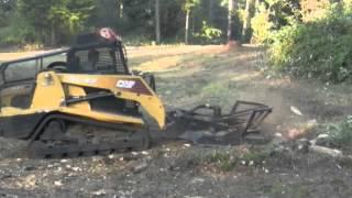 Blackberry Brush and Oak Slash Mulching in Eugene, Oregon by Williams Land Improvement