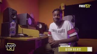 (Peruzzi - Nana) Studio X: The Making of Nana by Lusshbeatz || FreeMe TV