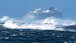 انظر ماذا يحدث عندما تنحصر السفن في العواصف