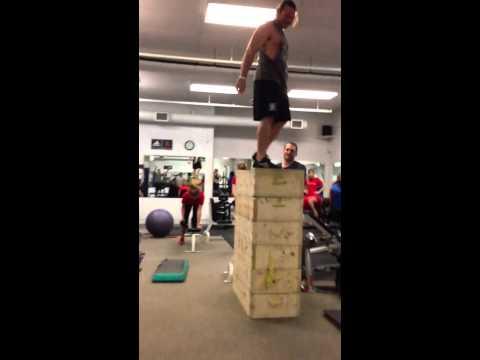 "Mike Benson 63"" box jump"