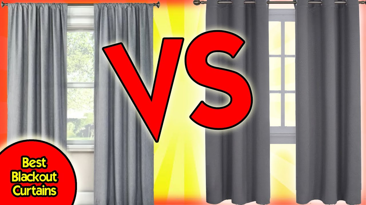 Best Blackout Curtains Nicetown Blackout Curtains Vs Target Room Essentials Light Blocking Curtain Youtube