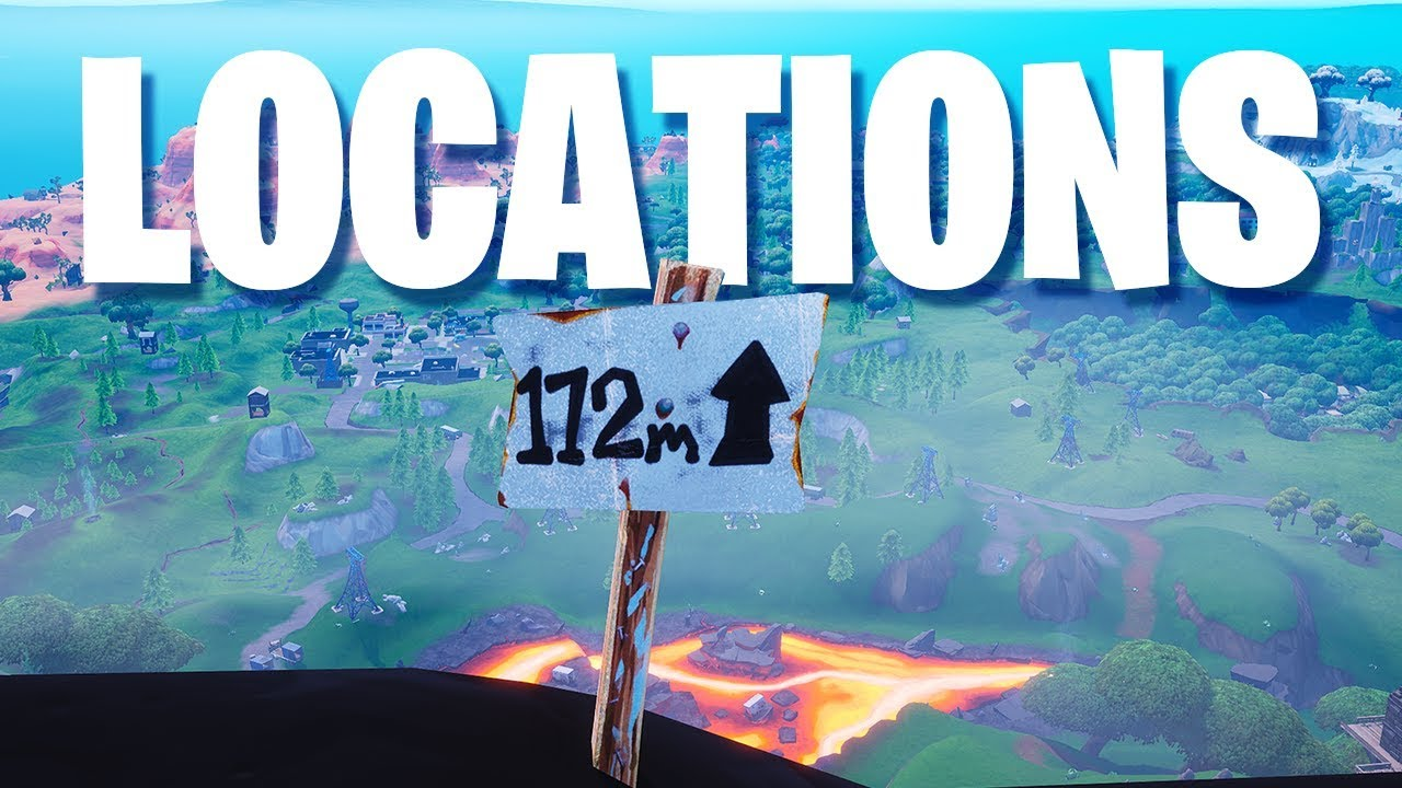 fortnite visit the 5 highest elevations on the island all locations - top 5 highest elevation points fortnite