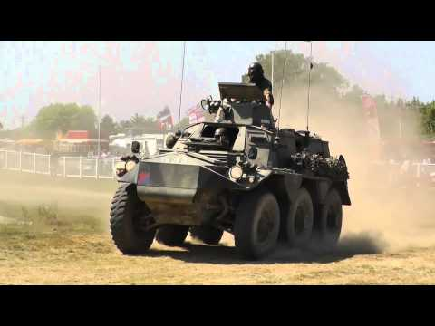 Two Alvis Saracens FV603 in the War & Peace Arena - Inc Slow Motion