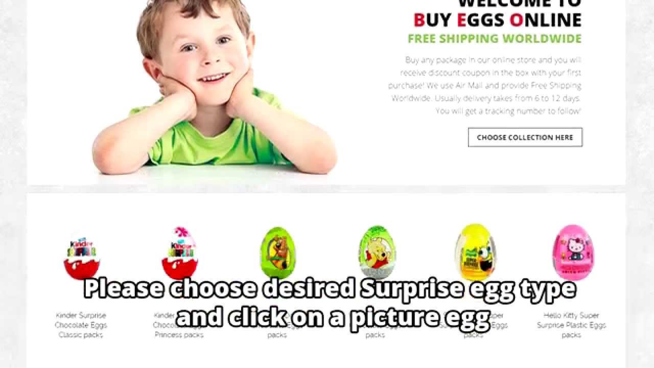 How to Buy Chocolate or Plastic Surprise Eggs in BuyEggsOnline.com ...