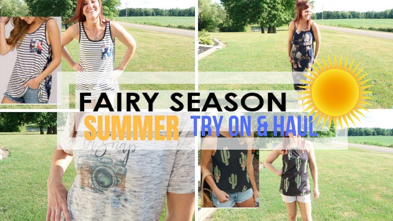 4c995b9b508d FAIRY SEASON SUMMER TRY ON AND HAUL 2018 - YouTube