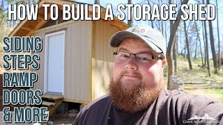 Siding, Doors, Sheathing, Steps, Ramp - How to Build a Storage Shed - Part 5
