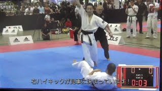 若槻昌高 上段回し蹴り「一本勝ち」 アーノルドクラッシック空手チャンピオンシップ決勝戦