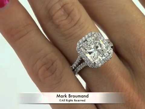 5 15ct Radiant Cut Diamond Engagement Anniversary Ring Mark Broumand You