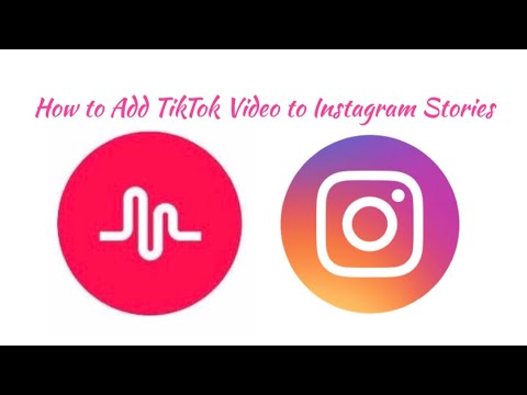 How To Add Tiktok Video To Instagram Stories August Month Youtube