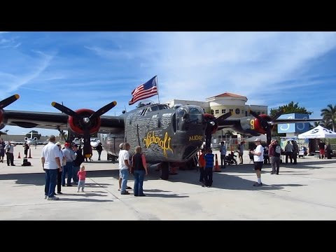 WWII Consolidated B-24 Liberator Bomber. Video tour inside and out.