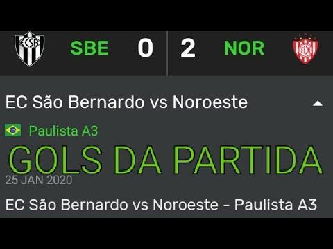 Campeonato Paulista A3 2020 E.C São Bernardo 0 x 2 Noroeste