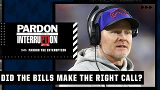Michael Wilbon explains why he agrees with the Bills' 4th down decision | PTI
