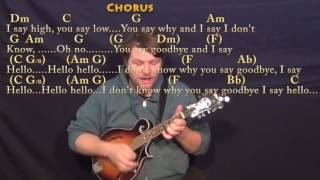 Hello Goodbye (The Beatles) Mandolin Cover Lesson with Chords/Lyrics