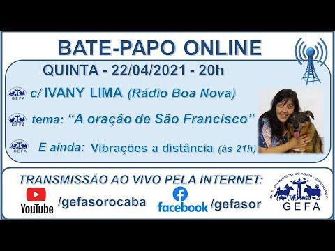 Assista: Bate-papo online - c/ IVANY LIMA (22/04/2021)