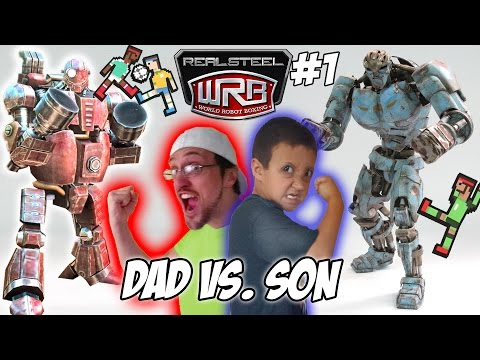 Dad vs. Son!  Real Steel World Robot Boxing! Fatboy & Ambush Multiplayer WRB Gameplay | FGTEEV #1