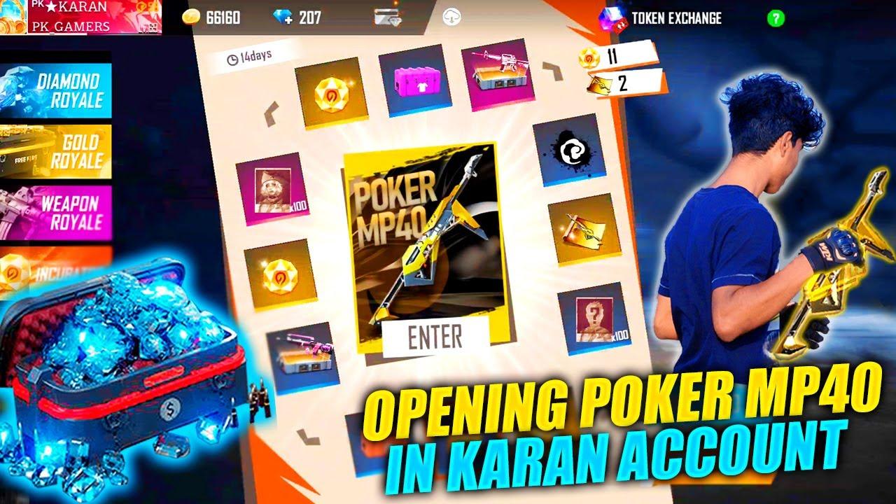 Karan Got New Poker Mp40 | Wasting 5000 Diamonds In New Incubator Poker Mp40 - Garena Free Fire