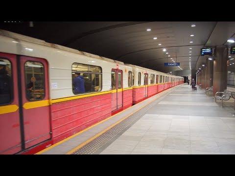 Poland, Warsaw, metro ride from Plac Wilsona to Dworzec Gdański