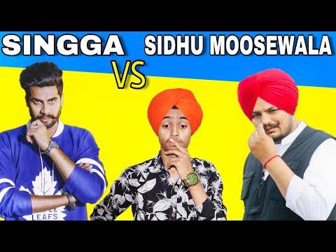 Singga VS Sidhu Moose Wala | Compete | Latest Punjabi songs Roast video | Harshdeep Singh