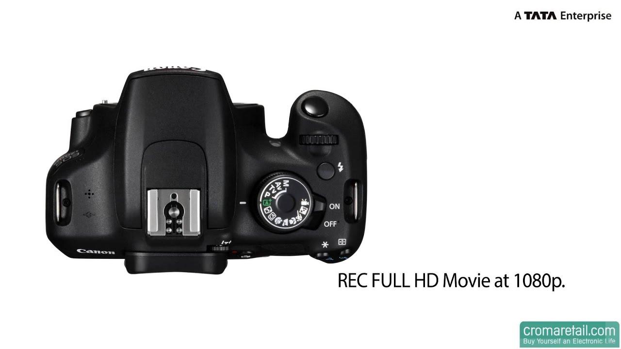 Canon EOS 1200D Dual Kit 18MP DSLR Camera - Croma