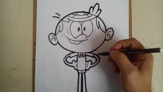 HOW TO DRAW LINCOLN - THE LOUD HOUSE / como dibujar a lincoln - the loud house