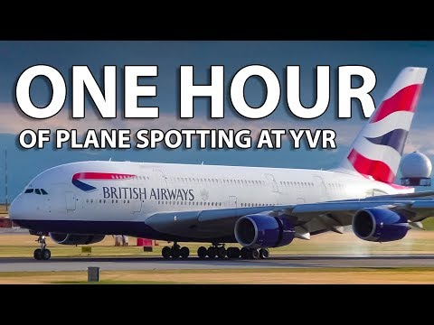 ONE HOUR Of Plane Spotting At Vancouver International Airport!