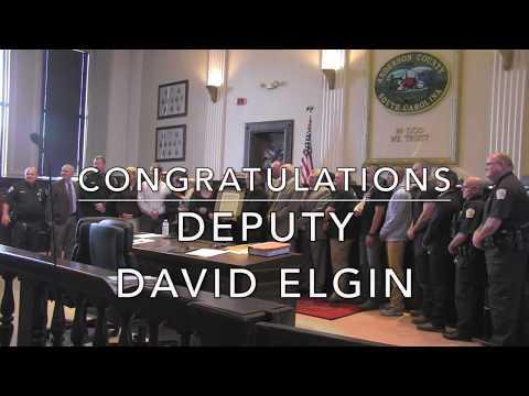 Anderson County Sheriff's Deputy David Elgin: Duty & Commitment