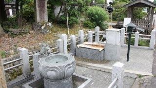 【富山散策】 とやまの名水 「誕生寺の誕生水」 射水市