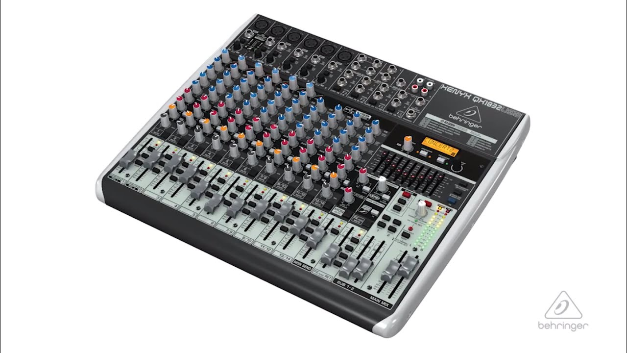 xenyx qx1832usb small format mixer usb audio interface youtube. Black Bedroom Furniture Sets. Home Design Ideas
