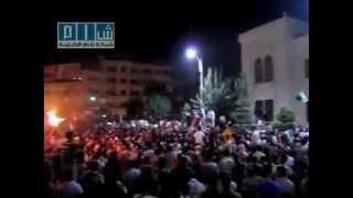 أغنية يلعن روحك يا حافظ - مظاهرة حماة المسائية 22-7-2011
