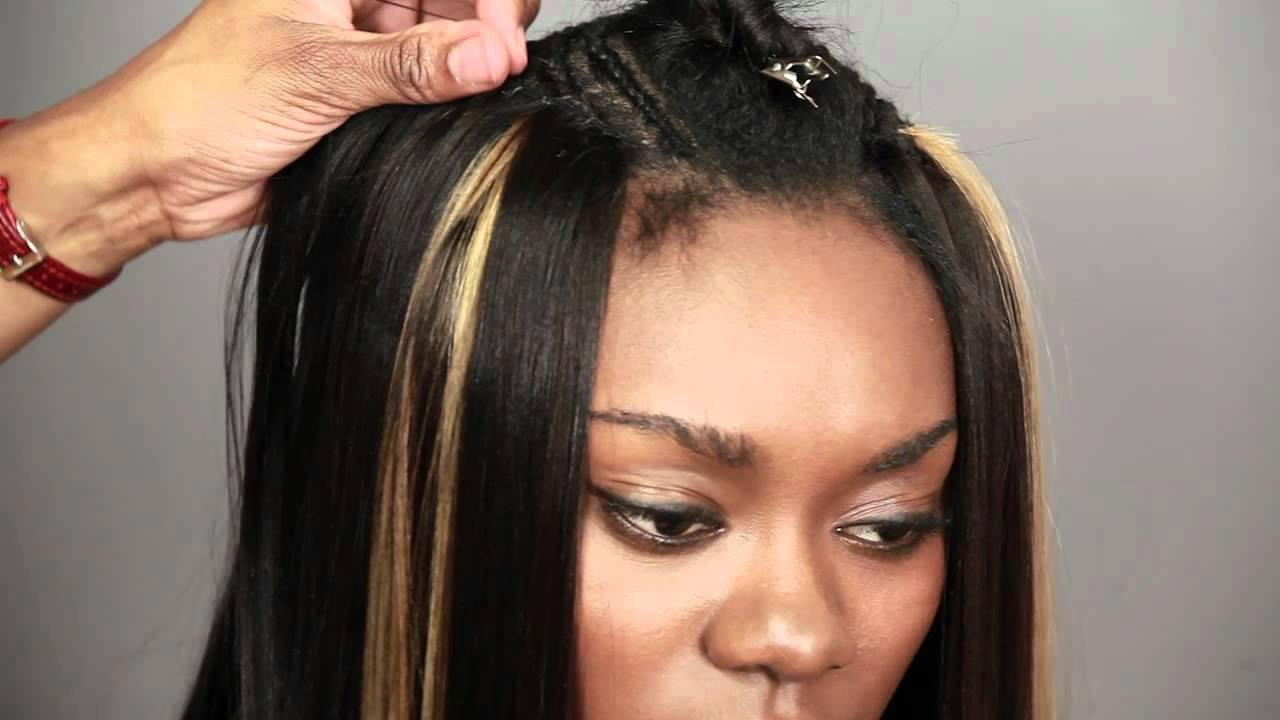 """""""paris swing bob"""" - how to weave human hair extensions with trendy swing bob haircut"""