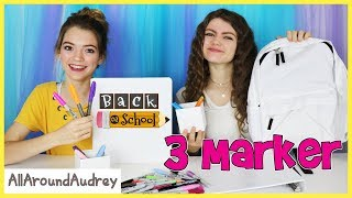 3 Marker SCHOOL SUPPLiES Challenge / AllAroundAudrey